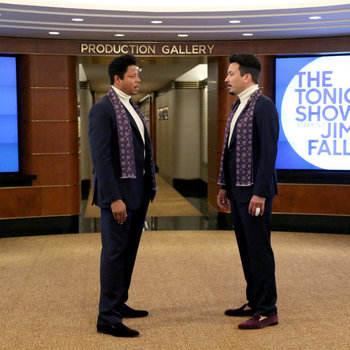 Terrence Howard and Jimmy Fallon
