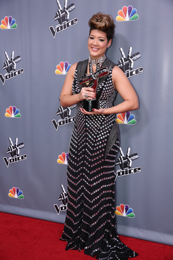 """THE VOICE -- """"Live Finale"""" Episode 519B -- Pictured: Tessanne Chin -- (Photo by: Tyler Golden/NBC)"""