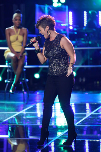 """Tessanne took on Kelly Clarkson's """"Stronger (What Doesn't Kill You)"""" for the knockouts. It is a difficult song, and she struggled in rehearsals; but when the stage lights came on, she made the song her own, knocking out Ashley DuBose to move on."""