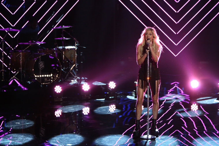 "THE VOICE -- ""Live Show"" Episode 516B -- Pictured: Ellie Goulding -- (Photo by: Tyler Golden/NBC)"