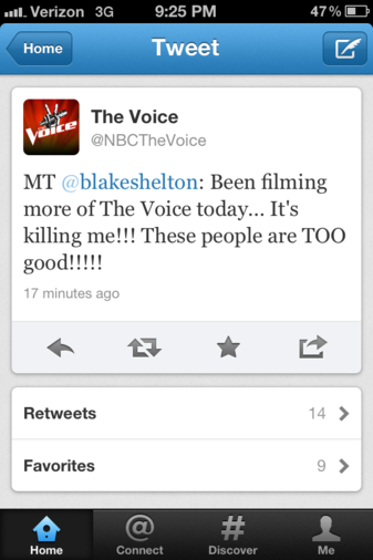 Blake Shelton battle round tweet