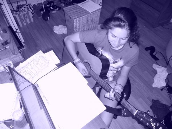Caught me at a messy time! Practicing!