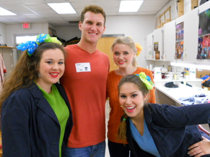 When i was in the Little Shop of Horrors musical at our school!