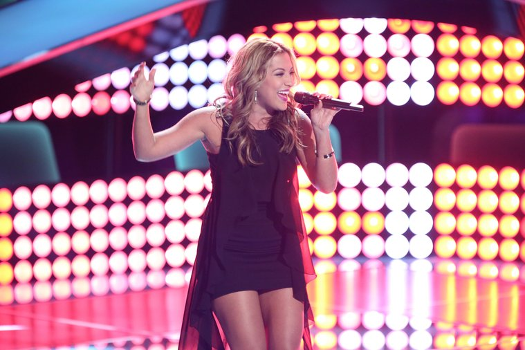 """THE VOICE -- """"Blind Auditions"""" Episode 603 -- Pictured: Clarissa Serna -- (Photo by: Tyler Golden/NBC)"""