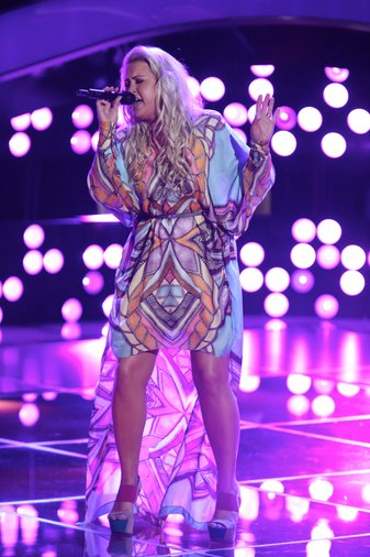 """THE VOICE -- """"Blind Auditions"""" Episode 605 -- Pictured: Cali Tucker -- (Photo by: Tyler Golden/NBC)"""