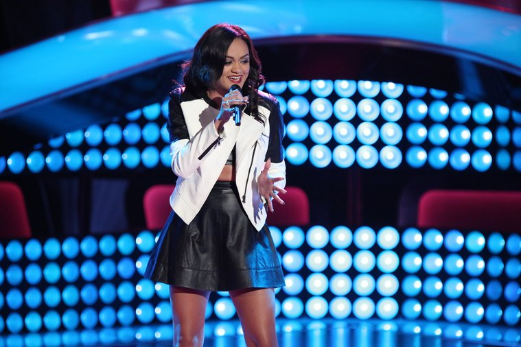 "THE VOICE -- ""Blind Auditions"" Episode 606 -- Pictured: Brittnee Camelle -- (Photo by: Tyler Golden/NBC)"