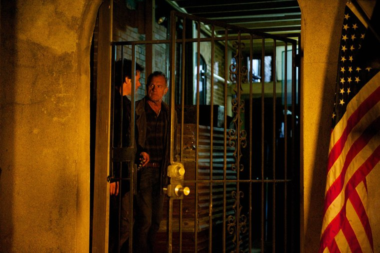 Pictured: Billy Burke as Miles Matheson, Stephen Collins as Dr. Gene Porter -- (Photo by: Felicia Graham/NBC)