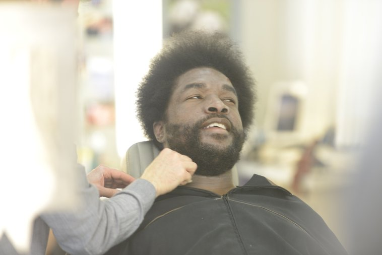"""Questlove prepares for his guest starring role as a dead body in the episode """"Criminal Stories."""""""