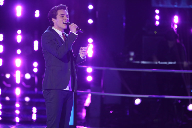 "THE VOICE -- ""Battle Rounds"" Episode 609 -- Pictured: Tanner James -- (Photo by: Tyler Golden/NBC)"