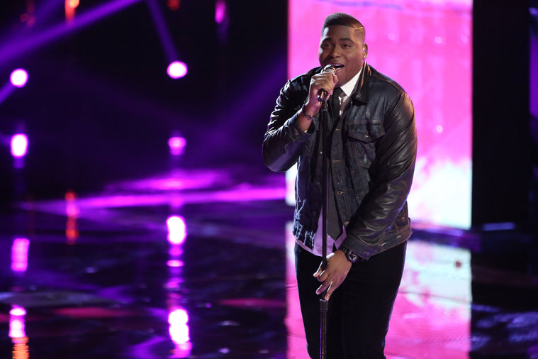 "THE VOICE -- ""Live Show"" -- Pictured: T.J. Wilkins -- (Photo by: Tyler Golden/NBC)"