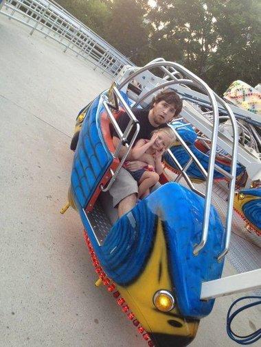 Horse & Daughter at Amusement Park!