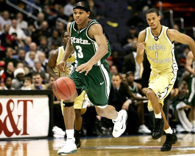 NCAA Men's Basketball - Michigan State vs George Washington - December 4, 2004