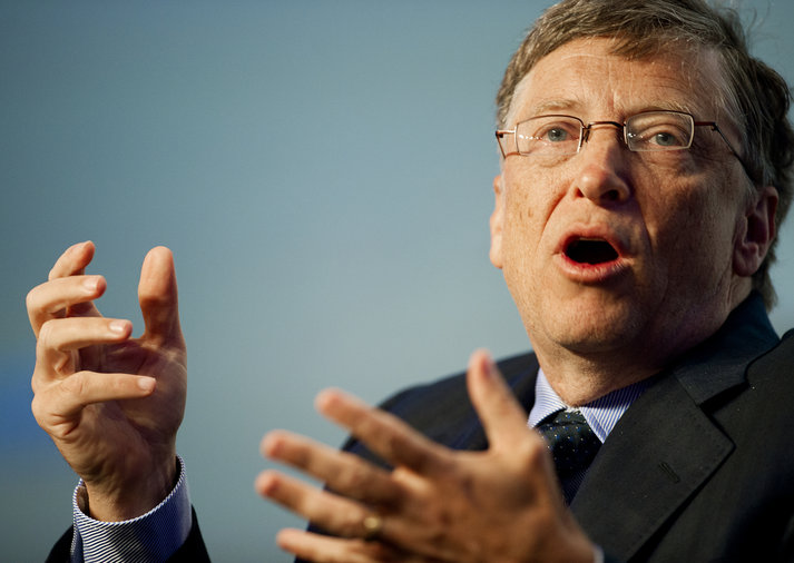 Microsoft Chairman Bill Gates delivers r