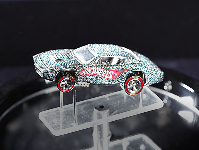 Hot Wheels Anniversary Diamond-Encrusted Car