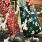 Jimmy Fallon hosts with musical guest Justin Timberlake in episode 1651 of Saturday Night Live on December 21, 2013.