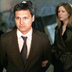 """LAW & ORDER: SPECIAL VICTIMS UNIT -- """"Cold"""" Episode 919 -- Pictured: (l-r) Adam Beach as Det. Chester Lake, Diane Neal as A.D.A. Casey Novak -- NBC Photo: Will Hart"""