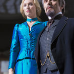 Pictured: (l-r) Victoria Smurfit as Lady Jayne Wetherby, Ben Miles as Mr. Browning -- (Photo by: Jonathon Hession/NBC)