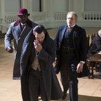 Pictured: (l-r) Nonso Anozie as R.M. Renfield, Jonathan Rhys Meyers as Alexander Grayson, Robert Bathurst as Lord Thomas Davenport -- (Photo by: Jonathon Hession/NBC)