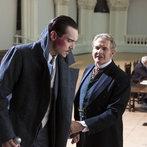 Pictured: (l-r) Jonathan Rhys Meyers as Alexander Grayson, Robert Bathurst as Lord Thomas Davenport -- (Photo by: Jonathon Hession/NBC)