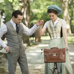 Pictured: (l-r) Jonathan Rhys Meyers as Alexander Grayson, Jessica De Gouw as Mina Murray