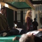 Pictured: (l-r) Tamer Hassan as Kaha Ruma, Victoria Smurfit as Lady Jayne Wetherby -- (Photo by: Egon Endrenyi/NBC)