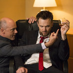 """COMMUNITY -- """"Repilot"""" Episode 501 -- Pictured: (l-r) Rob Corddry as Alan Connor, Joel McHale as Jeff"""