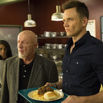 """COMMUNITY -- """"Introduction to Teaching"""" Episode 502 -- Pictured: (l-r) Jonathan Banks as Hickey, Joel McHale as Jeff Winger"""