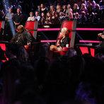 "THE VOICE -- ""Live Show"" Episode 517A -- Pictured: (l-r) Adam Levine, CeeLo Green, Christina Aguilera, Blake Shelton -- (Photo by: Trae Patton/NBC)"