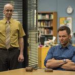"COMMUNITY -- ""Basic Sandwich"" -- Pictured: (l-r) Jim Rash as Dean Pelton, Joel McHale as Jeff Winger  -- (Photo by: Justin Lubin/NBC)"