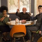 "COMMUNITY -- ""Basic Sandwich"" -- Pictured: (l-r) Yvette Nicole Brown as Shirley Bennett, Jonathan Banks as Professor Hickey, John Oliver as Professor Duncan -- (Photo by: Justin Lubin/NBC)"