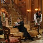 Pictured: (l-r) Kristine Nielson as Frau Schmidt, Stephen Moyer as Captain Von Trapp, Sean Cullen as Franz -- (Photo by: Will Hart/NBC)
