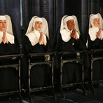 Pictured: (l-r) Jessica Molasky as Sister Berthe, Elena Shaddow as Sister Sophia, Audra McDonald as Mother Abbess, Christiane Noll as Sister Margaretta -- (Photo by: Will Hart/NBC/NBCU Photo Bank)