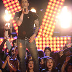 """THE VOICE -- """"Live Show"""" Episode 519A -- Pictured: Adam Levine -- (Photo by: Tyler Golden/NBC)"""