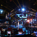 """THE VOICE -- """"Live Finale"""" Episode 519B -- Pictured: (l-r) Tessanne Chin, Celine Dion -- (Photo by: Tyler Golden/NBC)"""
