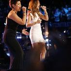 "THE VOICE -- ""Live Finale"" Episode 519B -- Pictured: (l-r) Tessanne Chin, Celine Dion -- (Photo by: Trae Patton/NBC)"