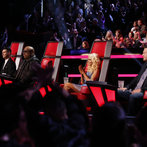 "THE VOICE -- ""Live Show"" Episode 519A -- Pictured: (l-r) Adam Levine, CeeLo Green, Christina Aguilera, Blake Shelton -- (Photo by: Trae Patton/NBC)"