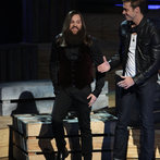 """THE VOICE -- """"Live Show"""" Episode 516B -- Pictured: (l-r) Cole Vosbury, Ray Boudreaux -- (Photo by: Tyler Golden/NBC)"""