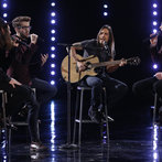 """In the results show, Will joined James, Cole and Extreme guitarist Nuno Bettencourt in a moving take on """"More Than Words"""" before finding out America had voted him into the semifinals."""