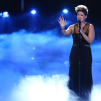 "Then it was on to her solo performance. Surrounded by stage smoke, Tessanne sank her teeth into Simon and Garfunkel's classic ""Bridge Over Troubled Water."" It was a dramatic performance that easily put her into the finals."