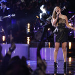 """On the final night, Jacquie took the stage to bring the grand prize home. First up, she revisited the blind audition song that had so wowed her coach, """"Back to Black."""""""