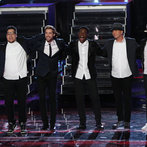 "THE VOICE -- ""Live Finale"" Episode 519B -- Pictured: (l-r) Preston Pohl, Ray Boudreaux, Matthew Schuler, Josh Logan, Nic Hawk -- (Photo by: Tyler Golden/NBC)"