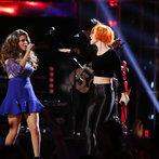 "THE VOICE -- ""Live Finale"" Episode 519B -- Pictured: (l-r) Jacquie Lee, Paramore -- (Photo by: Trae Patton/NBC)"