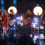 "THE VOICE -- ""Live Finale"" Episode 519B -- Pictured: (l-r) Cole Vosbury, Caroline Pennell, Will Champlin, Jonny Gray, Austin Jenckes -- (Photo by: Trae Patton/NBC)"