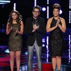 """THE VOICE -- """"Live Finale"""" Episode 519B -- Pictured: (l-r) Jacquie Lee, Will Champlin, Tessanne Chin -- (Photo by: Tyler Golden/NBC)"""