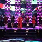 "THE VOICE -- ""Live Finale"" Episode 519B -- Pictured: (l-r) Stephanie Anne Johnson, Grey Paluszynski, Shelbie Z., Kat Robichaud, Amber Nicole, Tamara Chauniece -- (Photo by: Tyler Golden/NBC)"