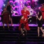 "THE VOICE -- ""Live Finale"" Episode 519B -- Pictured: (l-r) Stephanie Anne Johnson, Tamara Chauniece, Kat Robichaud, Shelbie Z., Grey Paluszynski, Amber Nicole -- (Photo by: Tyler Golden/NBC)"