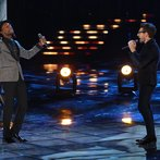 """THE VOICE -- """"Live Finale"""" Episode 519B -- Pictured: (l-r) Aloe Blacc, Will Champlin -- (Photo by: Tyler Golden/NBC)"""