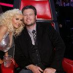 "THE VOICE -- ""Live Finale"" Episode 519B -- Pictured: (l-r) Christina Aguilera, Blake Shelton -- (Photo by: Trae Patton/NBC)"