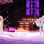"THE VOICE -- ""Live Finale"" Episode 519B -- Pictured: (l-r) Christina Aguilera, Lady Gaga -- (Photo by: Trae Patton/NBC)"