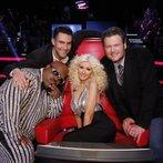 "THE VOICE -- ""Live Finale"" Episode 519B -- Pictured: (l-r) CeeLo Green, Adam Levine, Christina Aguilera, Blake Shelton -- (Photo by: Trae Patton/NBC)"